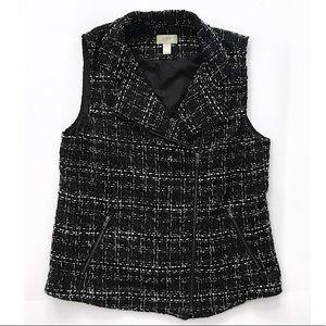 Loft vest blazer top size L tweed